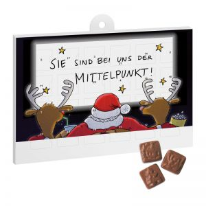 A5 Schoko Adventskalender Basic mit Werbedruck