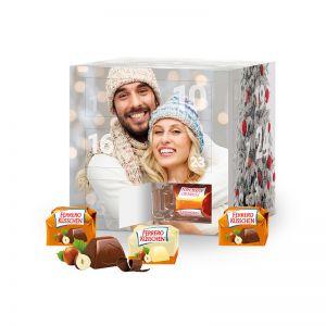 Adventskalender Cube Ferrero Küsschen mit Werbedruck