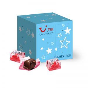 Adventskalender Cube Mon Chéri mit Werbedruck