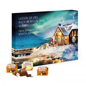Adventskalender Ferrero Küsschen Hoch- oder Querformat mit Werbedruck