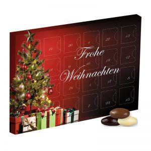 Adventskalender Mandel-Schoko-Trio mit Werbedruck