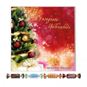 Adventskalender Miniatures Mix Quadratisch mit Logodruck