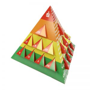 Adventskalender Pyramide individuell bedruckt