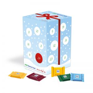 Adventskalender Quadretties Cube XL mit Logodruck