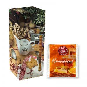 Adventskalender Teekanne Weihnachtstee Kaminabend mit Werbedruck
