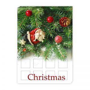 Befüllbarer Adventskalender 24 Fächer 50x50x35 mm mit Werbedruck