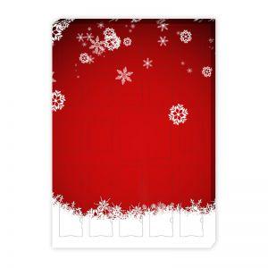 Befüllbarer Adventskalender 24 gleichgroße Fächer + 1 großes Fach hinter Doppeltür mit Werbedruck