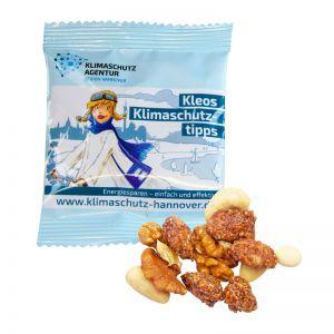 Bio Nuss-Mix mit gebrannten Erdnüssen im Werbeflowpack