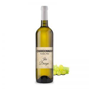 Chardonnay trocken mit individuellem Etikett