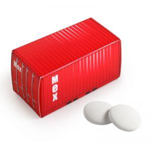 Container Imperiale Pfefferminz mit Werbebedruckung
