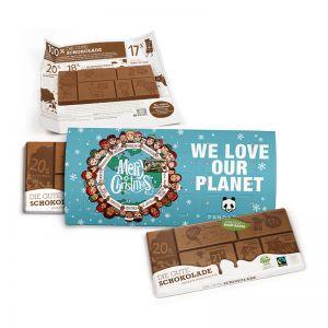 Der Gute Kalender mit Fairtrade-Schokolade und Werbedruck