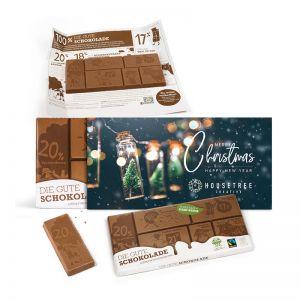 Die Gute Schokolade im X-Mas Schuber mit Werbedruck