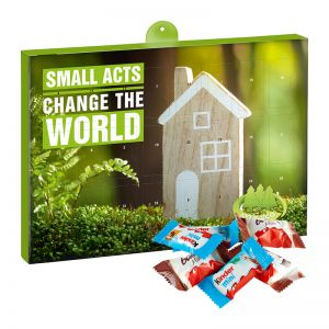 Eco Adventskalender Kinder Schokolade Mix mit Werbedruck