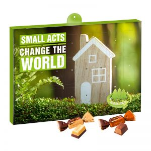 Eco Adventskalender merci Petit mit Werbedruck