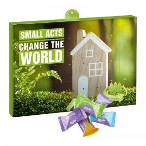 Eco Adventskalender Milka Zarte Momente Mix mit Werbedruck