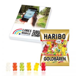 Express 10 g Fruchtgummi-Briefchen in Werbekartonage