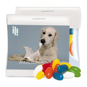 Express Jelly Beans im Maxi Tütchen mit Werbereiter und Logodruck