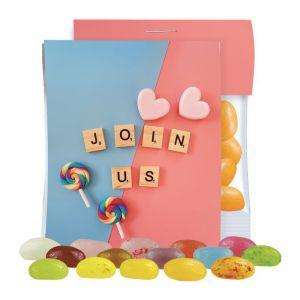 Express Jelly Beans sortenrein im Mini Tütchen mit Werbereiter und Logodruck