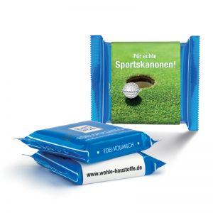 Express Schokolade Ritter SPORT mit Werbebanderole