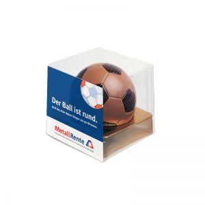 Fußball-Box mit Werbeeinleger