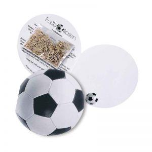 Fußball Klappkarte mit Samen für Fußabll-Rasen und mit Werbedruck