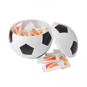 Fußball mit 22 Traubenzucker Mini-Täfelchen und mit Logodruck