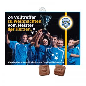 Fußball Schoko-Adventskalender mit Logodruck