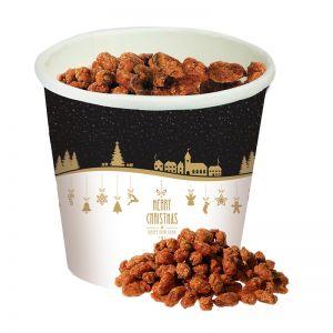 Gebrannte Erdnüsse im Snack-Becher mit Werbedruck