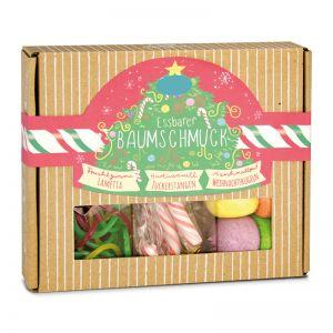Geschenkbox essbarer Baumschmuck mit bedruckbarem Etikett