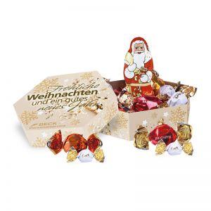 Große Lindt Weihnachts-Präsentbox mit Werbedruck