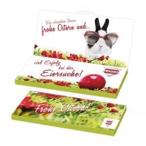 Grußkarte mit Schokoladentafel Excellence mit Werbedruck