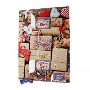 Gutschein-Adventskalender mit Milka-Täfelchen und 2 Gutscheinen