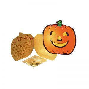Halloween Klappkarte mit Werbedruck