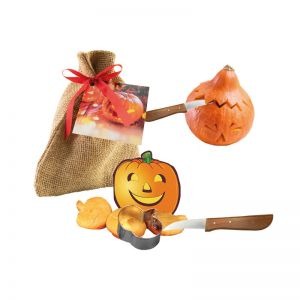 Halloween-Säckchen mit bedruckbarer Werbekarte