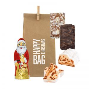 Happy Xmas Bag Mix mit Logodruck