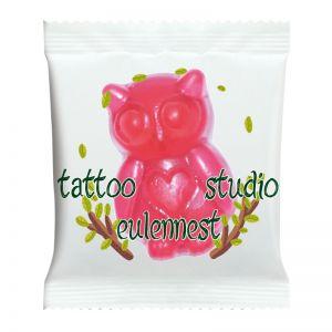 HARIBO Eulen Pinkie & Lilly im Werbetütchen mit Logodruck