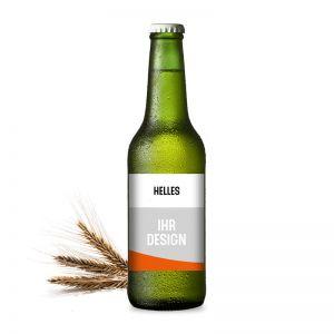 Helles Premium-Bier mit Werbeeetikett