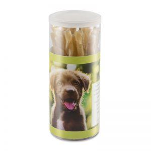 Hunde Kaurollen-20er-Dose mit Werbebanderole