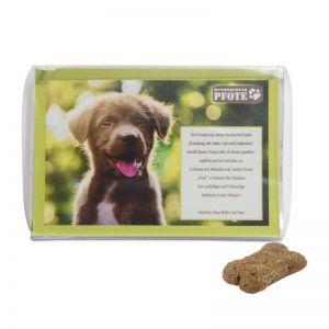 Hunde Leckerli-Box mit bedruckbarem Einleger