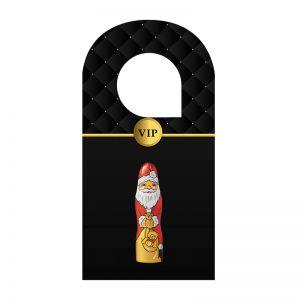 Individueller Türhänger mit einem 13 g Schoko Weihnachtsmann
