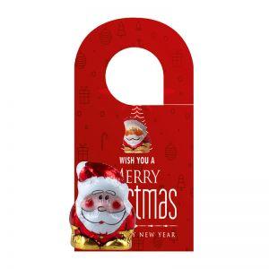 Individueller Türhänger mit einem 5 g Mini Bio Schoko Weihnachtswichtel