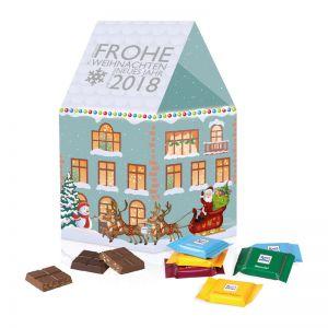 Individuelles Weihnachtshaus Ritter SPORT mit Werbedruck