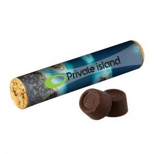 Karamell-Schokolade von Rolo mit Werbebanderole