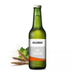 Kellerbier Premium-Bier mit Werbeeetikett