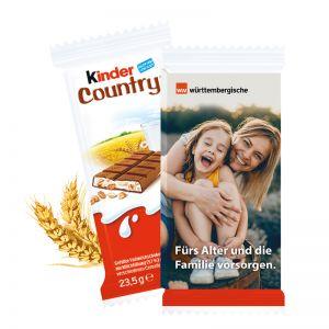Kinder Country im Werbeschuber mit Werbedruck