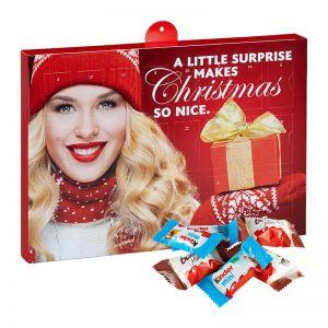 Kinder Schokoladen Mix Adventskalender mit Werbedruck