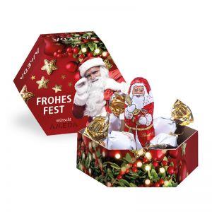 Kleine Lindt Weihnachts-Präsentbox mit Werbedruck