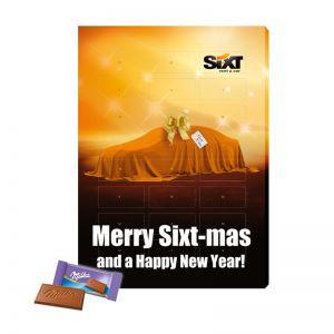 Lastminute Milka Werbe Adventskalender mit Bedruckung