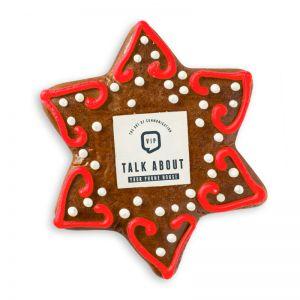 Lebkuchen Stern mit bedrucktem essbaren Dekoraufleger