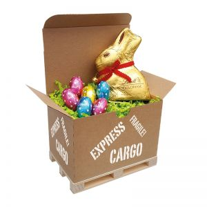 Lindt Cargo Box Ostern II mit Werbeanbringung